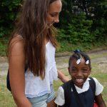 Viel Spass mit einheimischen Schulkindern