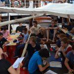 Klassenzimmer unter (Sonnen)segeln