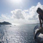 Beim Segelpacken in der Karibik