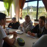 Spanischunterricht zu sechst im gruenen Boquete