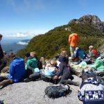 Wir haben es fast geschafft! - Mittagspause vor dem Barù Gipfel