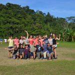 Vamos a ganar! Die Maedchen-Mannschaft beim Laenderspiel KUSis gegen Nasos