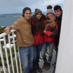 On the top of Bermuda Lighthouse