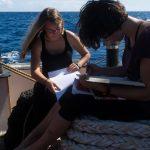 Proviantmeisterinnen Manu und Laura planen die Schiffsübergabe
