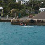 Premiere - Das Rescueboot misst die Tiefe am Liegeplatz