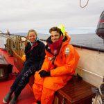 Unsere beiden Übungsschiffbrüchigen, Josef und Lotti, warten auf ihren Einsatz