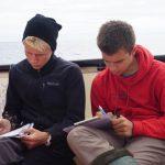 Die POB-Übungs-Protokolanten Jan und Ilja dokumentieren alles ganz genau