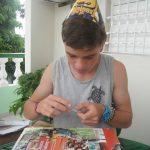Ein konzentriertes Geburtstagskind - KG Santa Clara