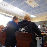 Beim Büffeln in der deutschen Partnerschule