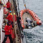 Einholen des Rescueboots