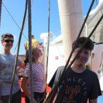 Schiffsübergabe Wachführer Wache 3 Michi und Copi Wache 4 Benno