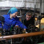 Maschinenassistenten Felix und Lea