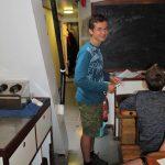 Bordmathematiker Christoph beim Unterricht