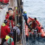 Bemannen des Rescueboats