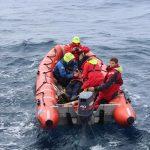PoB im Rescueboat geborgen und erfolgreiche Beendigung der Übung