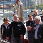 Stadtpräsident von Kiel Herr Tovar begrüßt uns