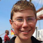 Thomas als zweiter Steuermann im Schiffsleitungsteam