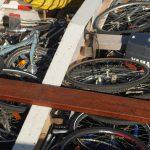 Die Fahrräder sind verstaut
