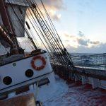 Weiter geht es in den Atlantik, der uns durchschaukelt...