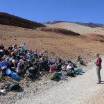 Theresa klärt uns über den Vulkanismus des Teide auf
