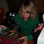 Planktonuntersuchungen mit Mikroskop