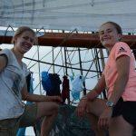 ...auch die Bootsfrauen hatten viel zu tun