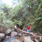 Um zum Wasserfall zu kommen muss man erst einmal einen holprigen Weg hinter sich bringen