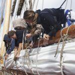 Spezielle Knoten zum Packen der Segel