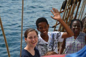 Austausch an Bord mit Jugendlichen aus Grenada