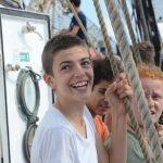 Philip freut sich, wieder zu segeln