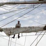 Bootsmann Laurent hält Ausschau