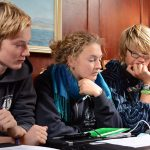 ...auch mit Steuermann Ben und Projektleitung Katie und Ben