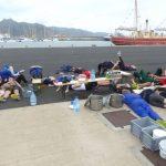 Mittagsschlaf an der Pier