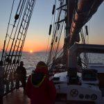 Sonnenaufgang vor Elbe 1